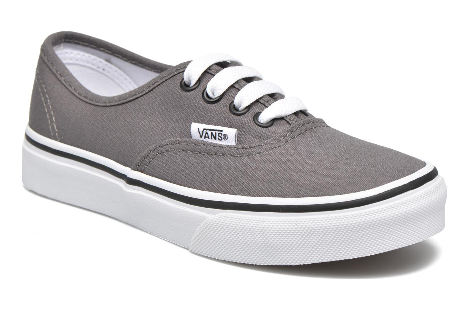 Baskets Vans Authentic E Gris vue détail/paire