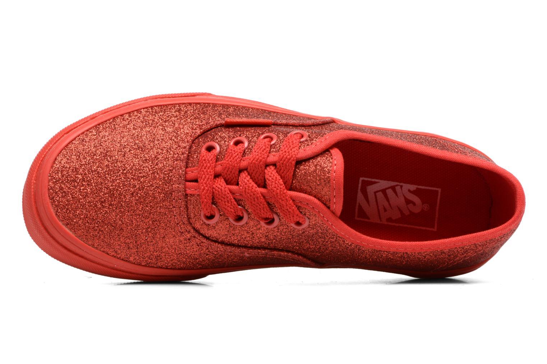 Baskets Vans Authentic E Rouge vue gauche