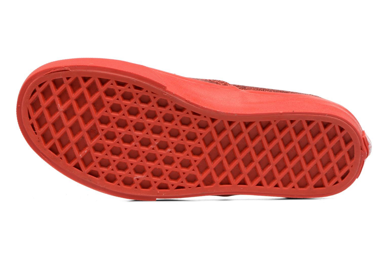 Baskets Vans Authentic E Rouge vue haut