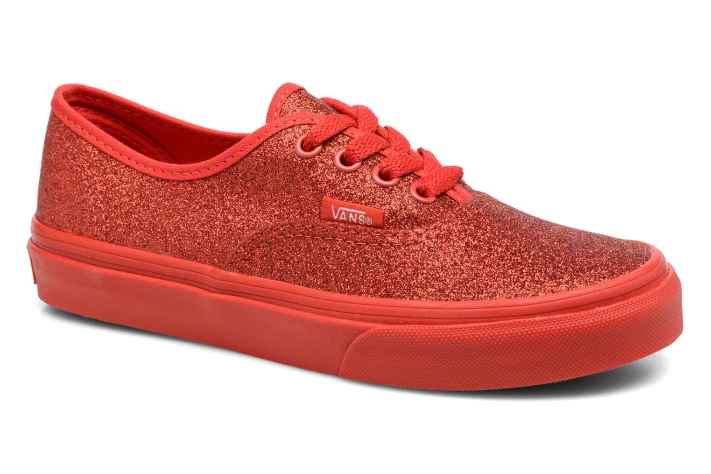 Baskets Vans Authentic E Rouge vue détail/paire