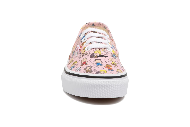 Baskets Vans Authentic E Rose vue portées chaussures