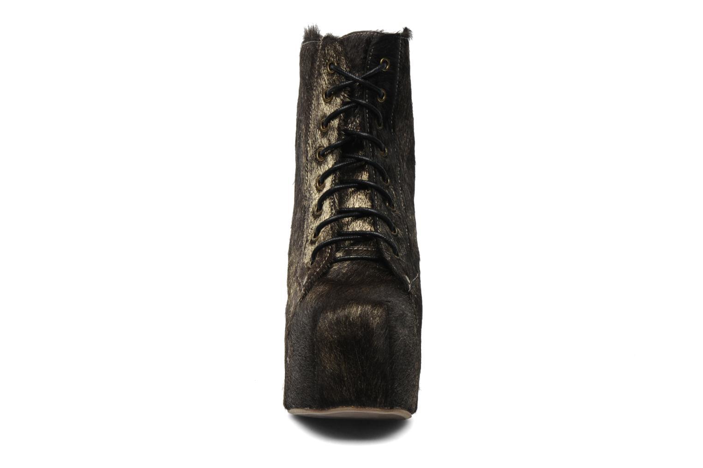 Bottines et boots Jeffrey Campbell Lita Or et bronze vue portées chaussures