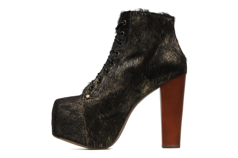 Bottines et boots Jeffrey Campbell Lita Or et bronze vue face