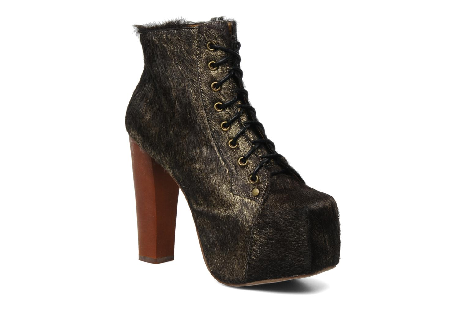 Ankle boots Jeffrey Campbell Lita Bronze and Gold detailed view/ Pair view