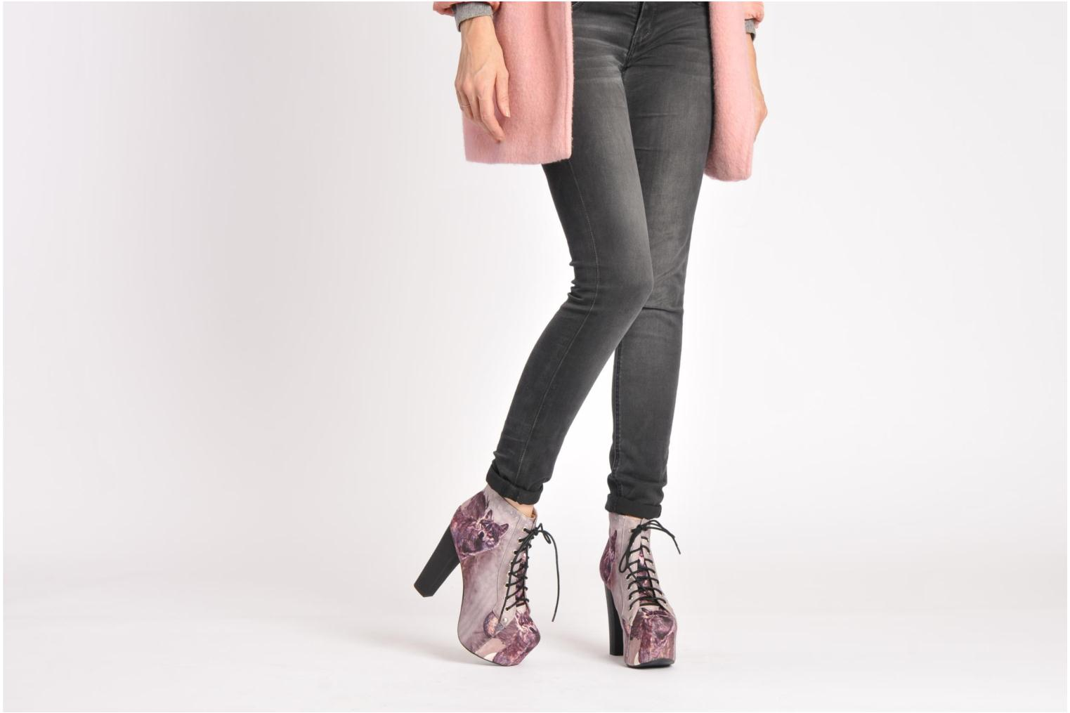 Ankle boots Jeffrey Campbell Lita Bronze and Gold view from underneath / model view