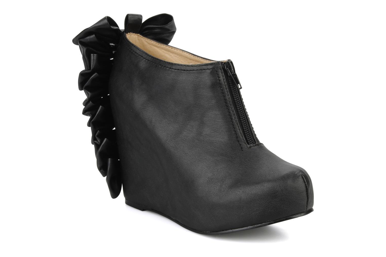 Bottines et boots Jeffrey Campbell Back bow Noir vue détail/paire