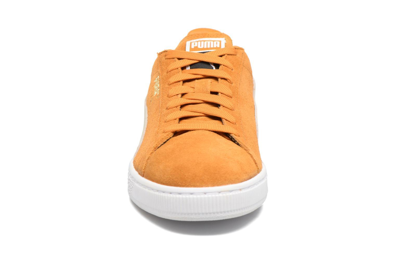Sneaker Puma Suede Classic + gelb schuhe getragen