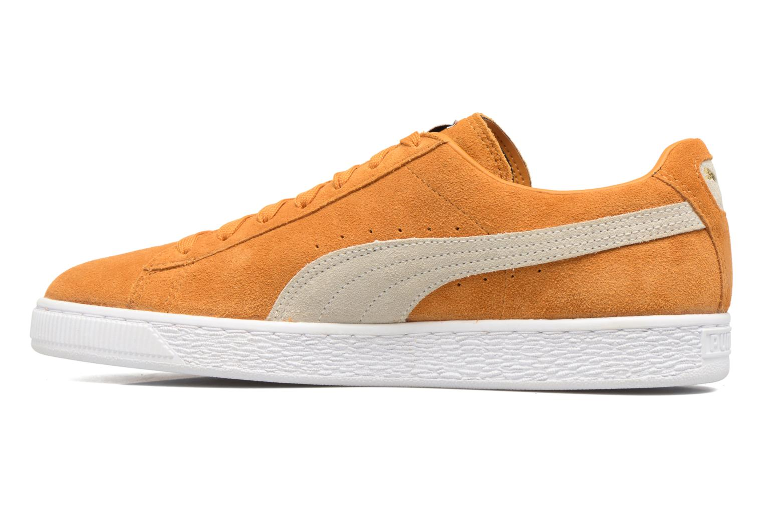 Trainers Puma Suede Classic + Yellow front view