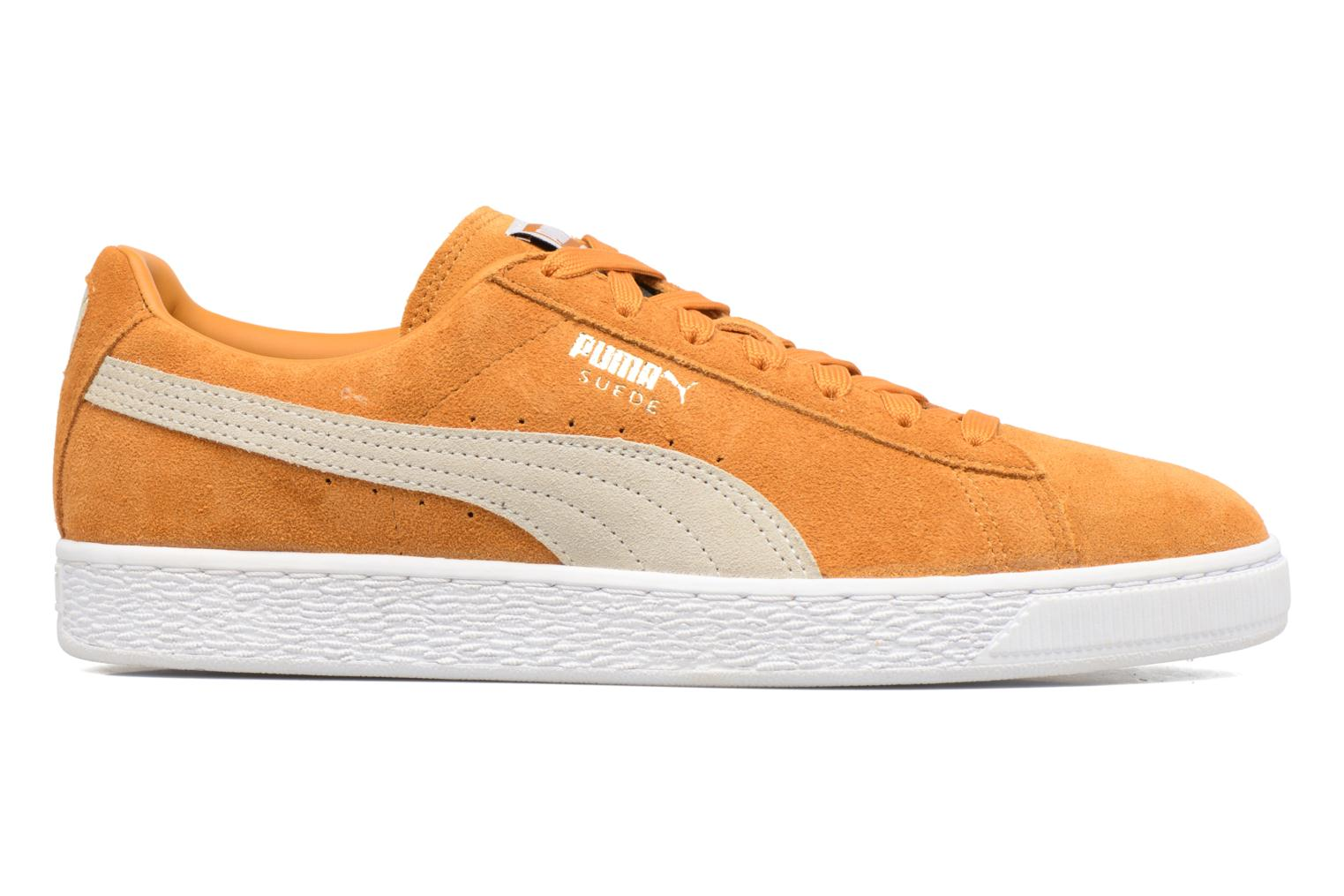 Trainers Puma Suede Classic + Yellow back view