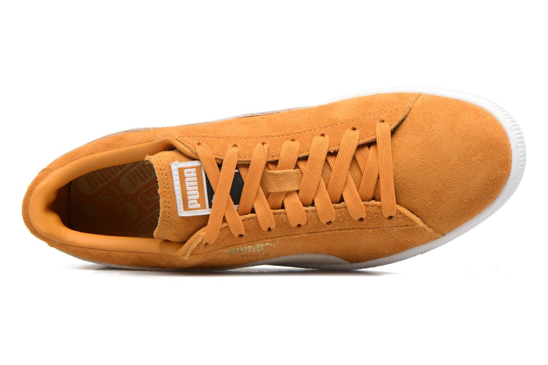 Sneaker Puma Suede Classic + gelb ansicht von links