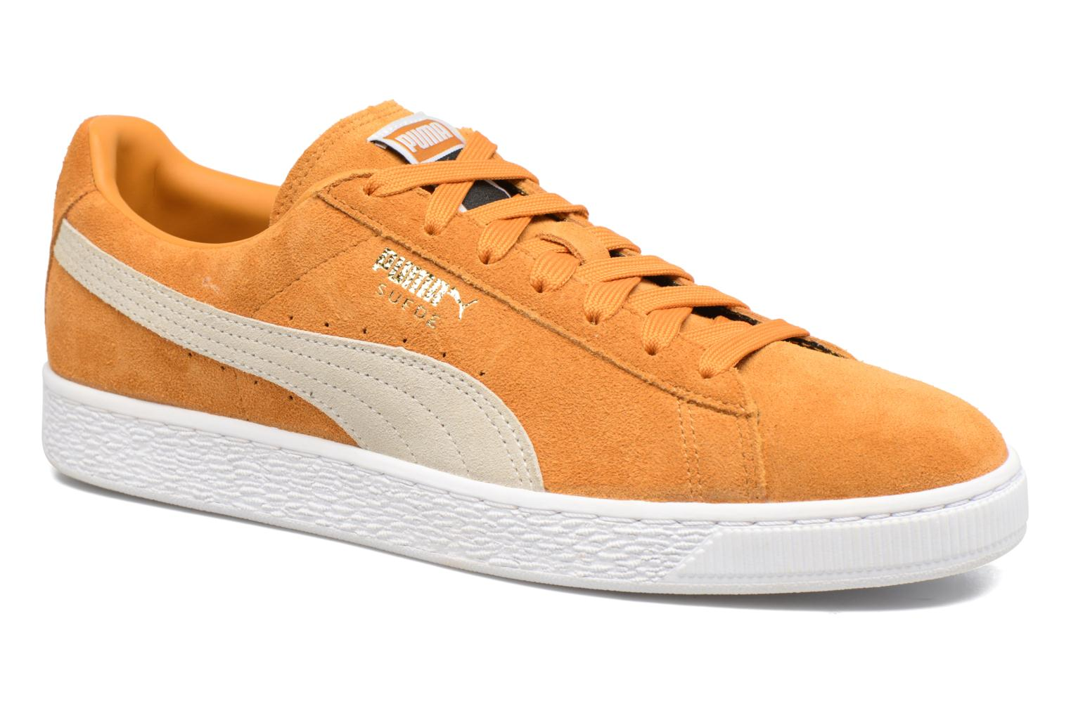 Trainers Puma Suede Classic + Yellow detailed view/ Pair view