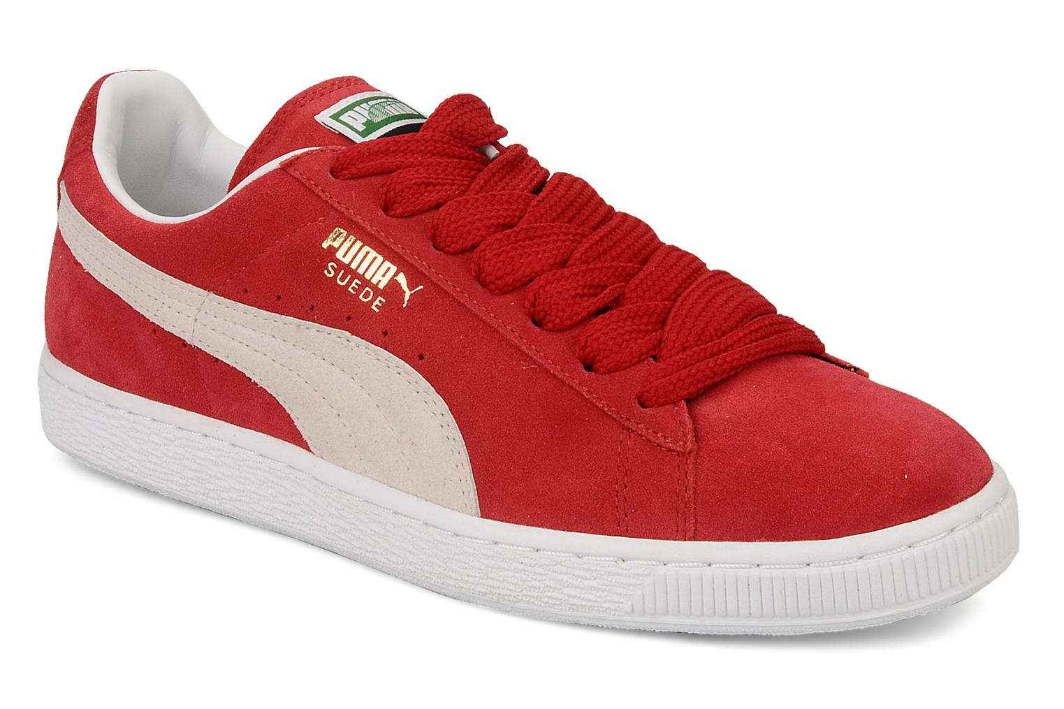 Trainers Puma Suede Classic + Red detailed view/ Pair view