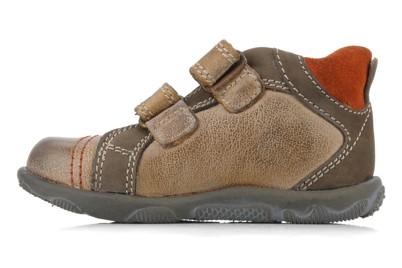 Chaussures à scratch Primigi Leroy Marron vue face