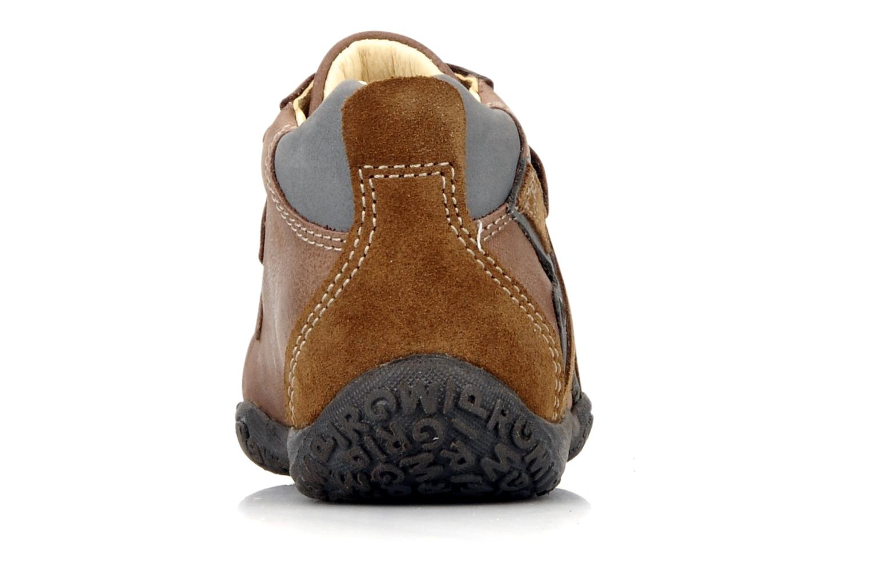 Zapatos con velcro Primigi Bartolom Marrón vista lateral derecha