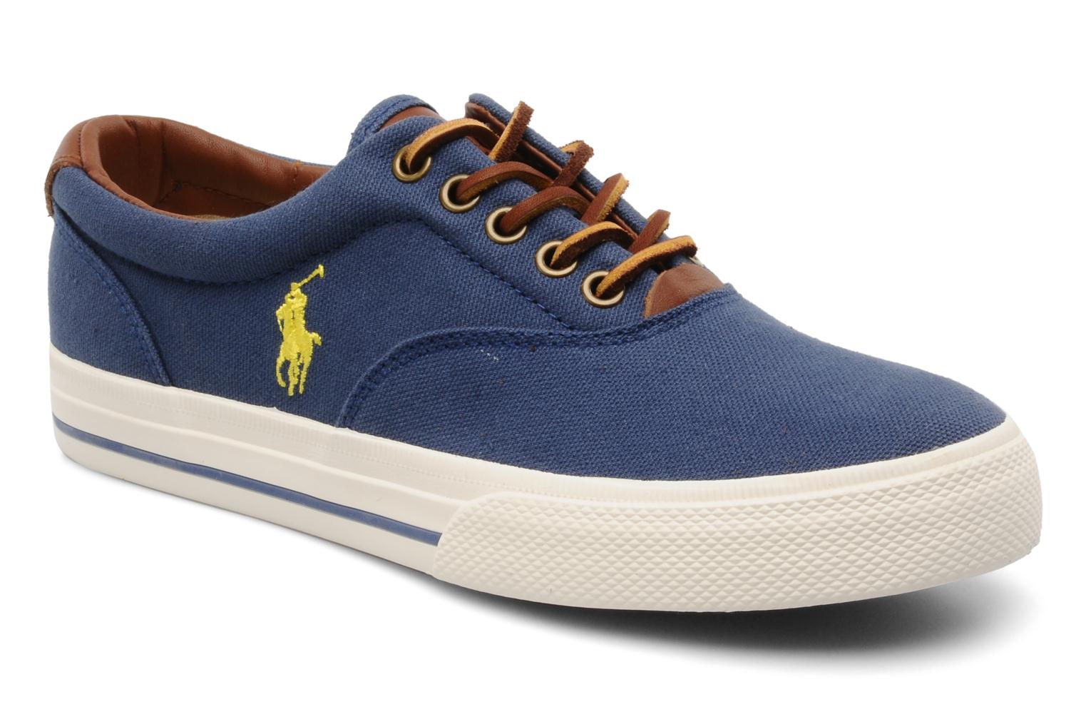 Baskets Polo Ralph Lauren Vaughn canvas Bleu vue détail/paire