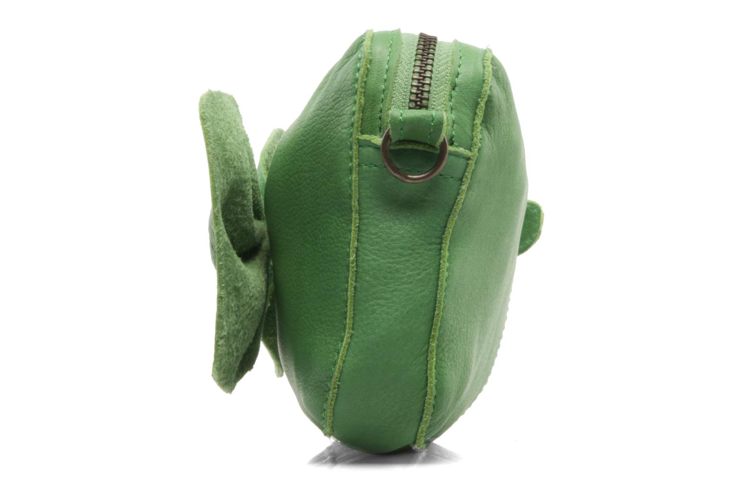 Pochette Pieces Pernille leather crossover Verde immagine frontale