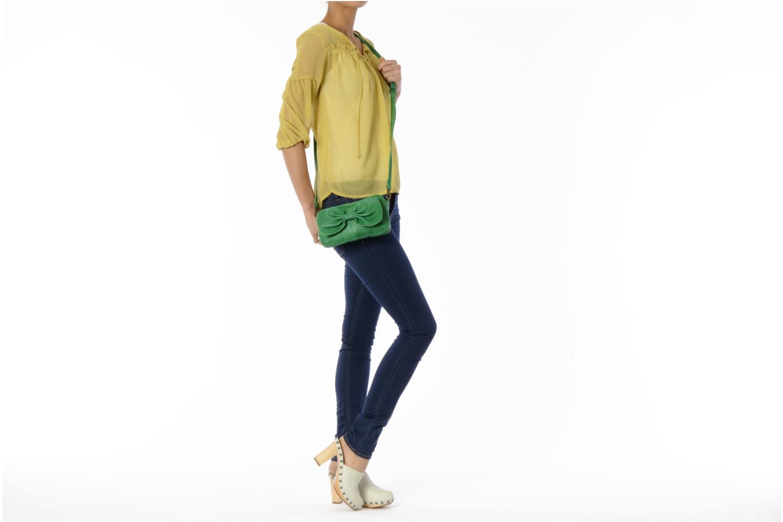 Pochette Pieces Pernille leather crossover Verde immagine dall'alto