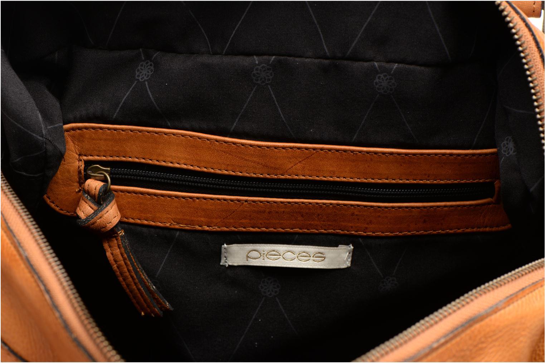 Bolsos de mano Pieces Totally Royal leather Small bag Marrón vistra trasera