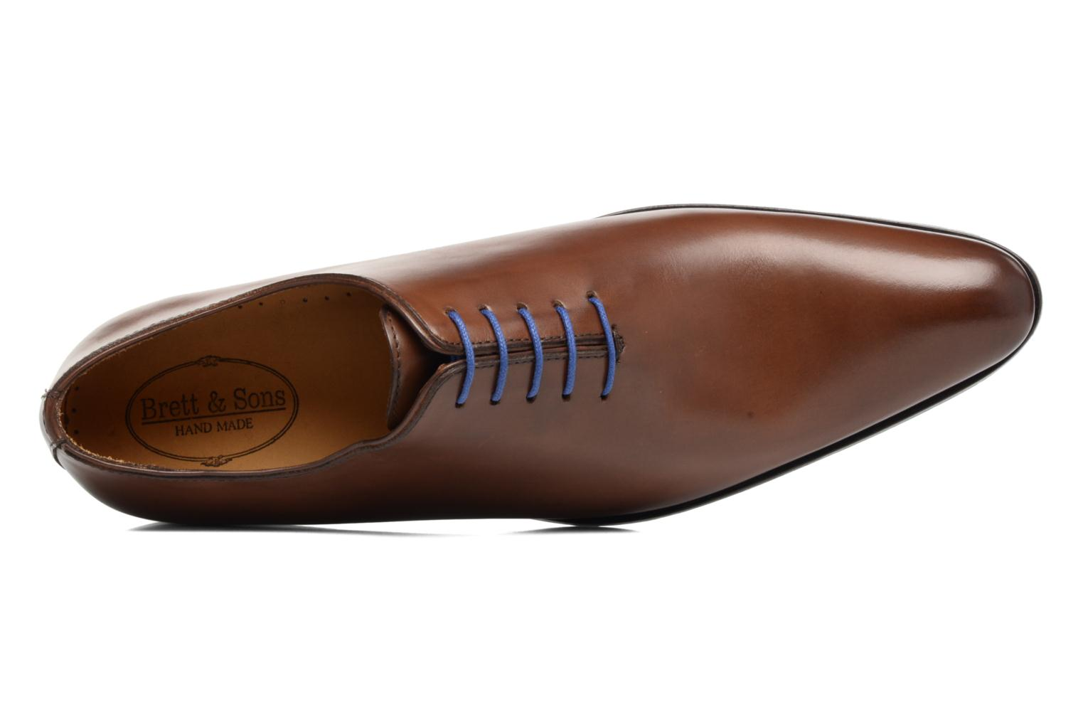 Lace-up shoes Brett & Sons Côme Brown view from the left