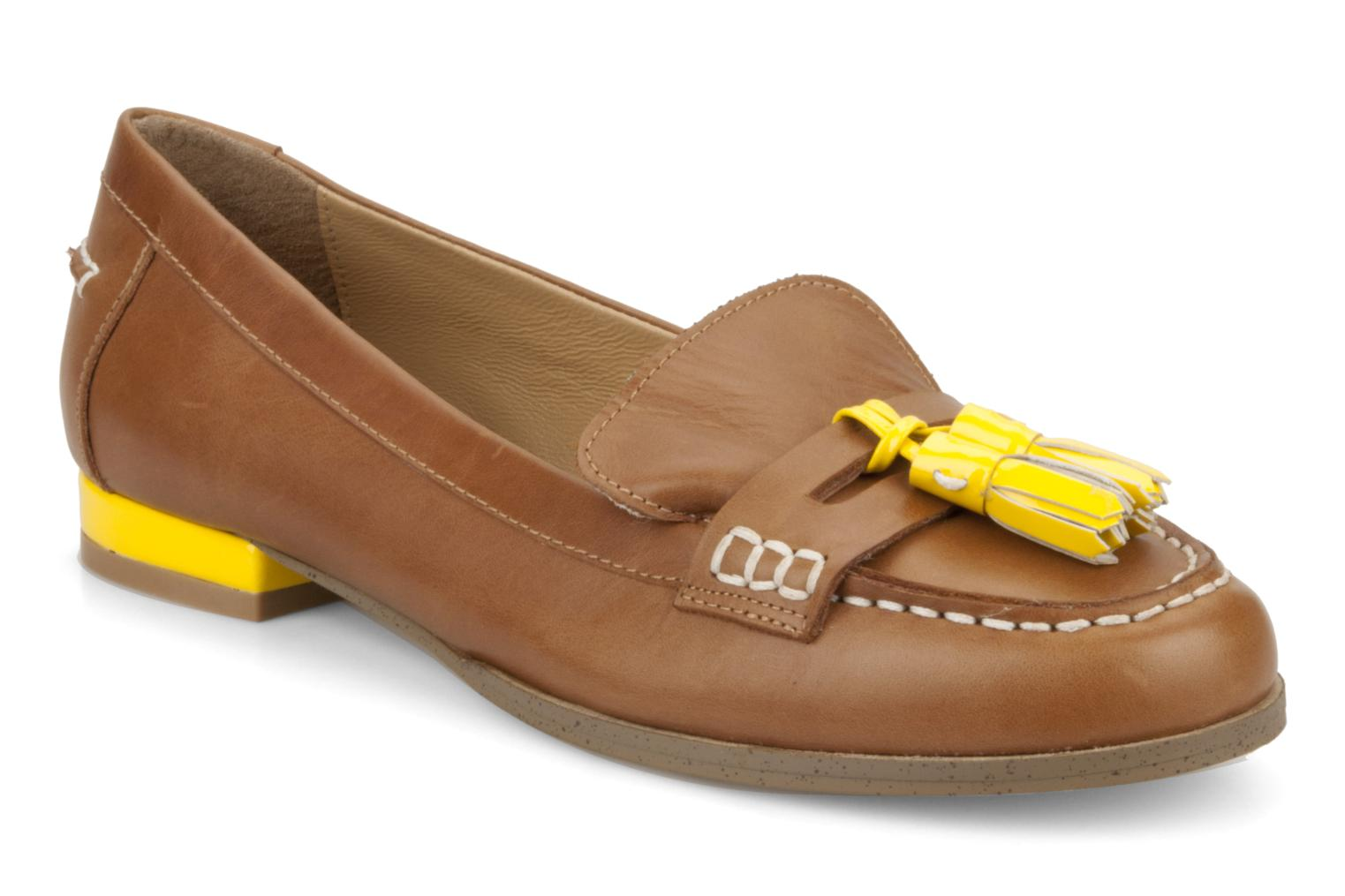 Loafers Mellow Yellow Kolage Brown detailed view/ Pair view