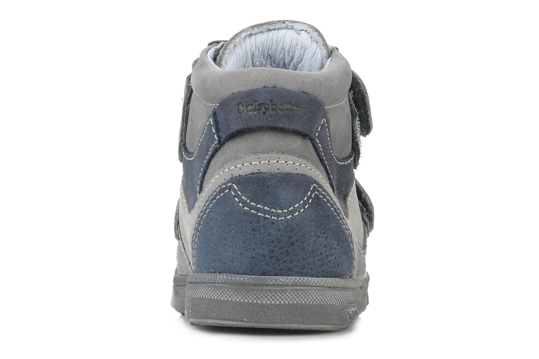 Zapatos con velcro Babybotte Ari Gris vista lateral derecha