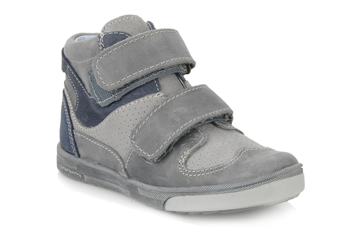 Velcro shoes Babybotte Ari Grey detailed view/ Pair view