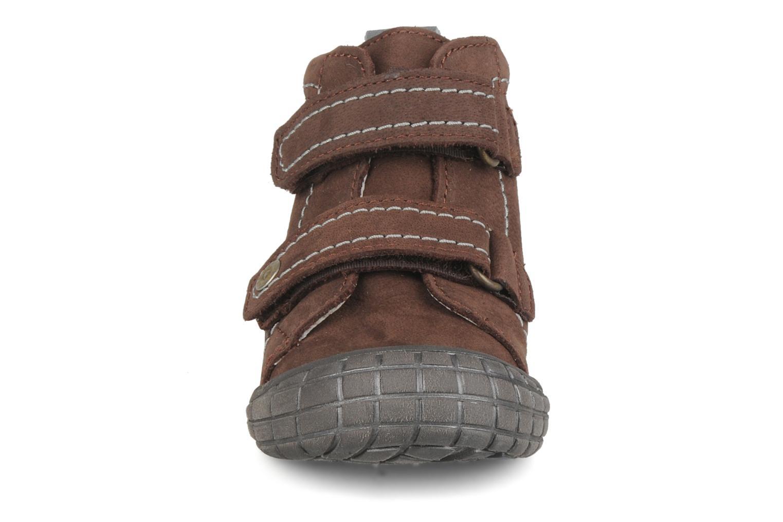 Chaussures à scratch Babybotte Axyon Marron vue portées chaussures