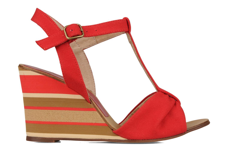 Sandales et nu-pieds Georgia Rose Dayana Rouge vue derrière