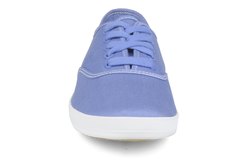 Sneaker Keds Champion washed canvas blau schuhe getragen