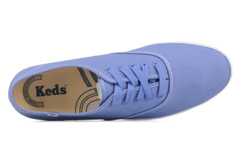 Sneaker Keds Champion washed canvas blau ansicht von links