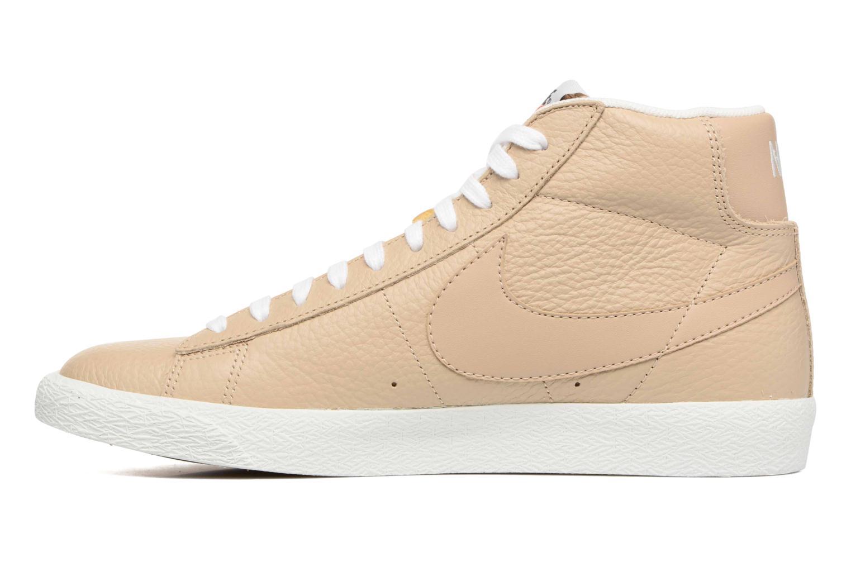 Baskets Nike Blazer mid prm Beige vue face