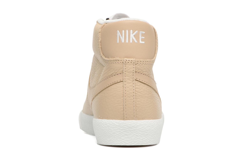 Baskets Nike Blazer mid prm Beige vue droite