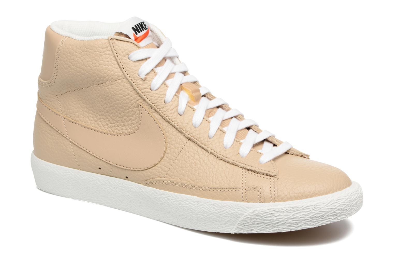 Baskets Nike Blazer mid prm Beige vue détail/paire