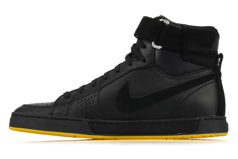 Sneaker Nike Flytop velcro schwarz ansicht von vorne