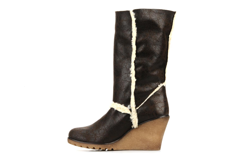 Boots en enkellaarsjes Eden Monta Bruin voorkant