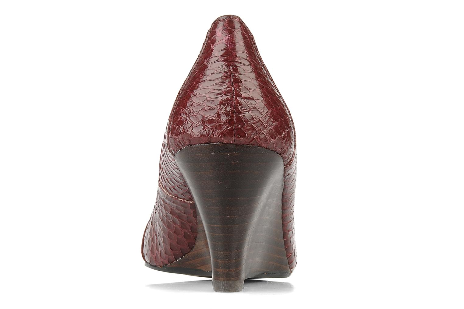 High heels Georgia Rose Hoba Burgundy view from the right