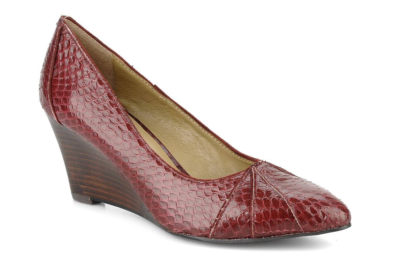 High heels Georgia Rose Hoba Burgundy detailed view/ Pair view