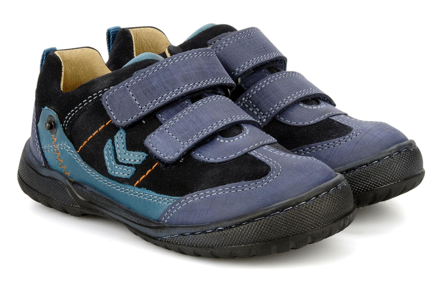 Velcro shoes Start Rite Trail Blue 3/4 view