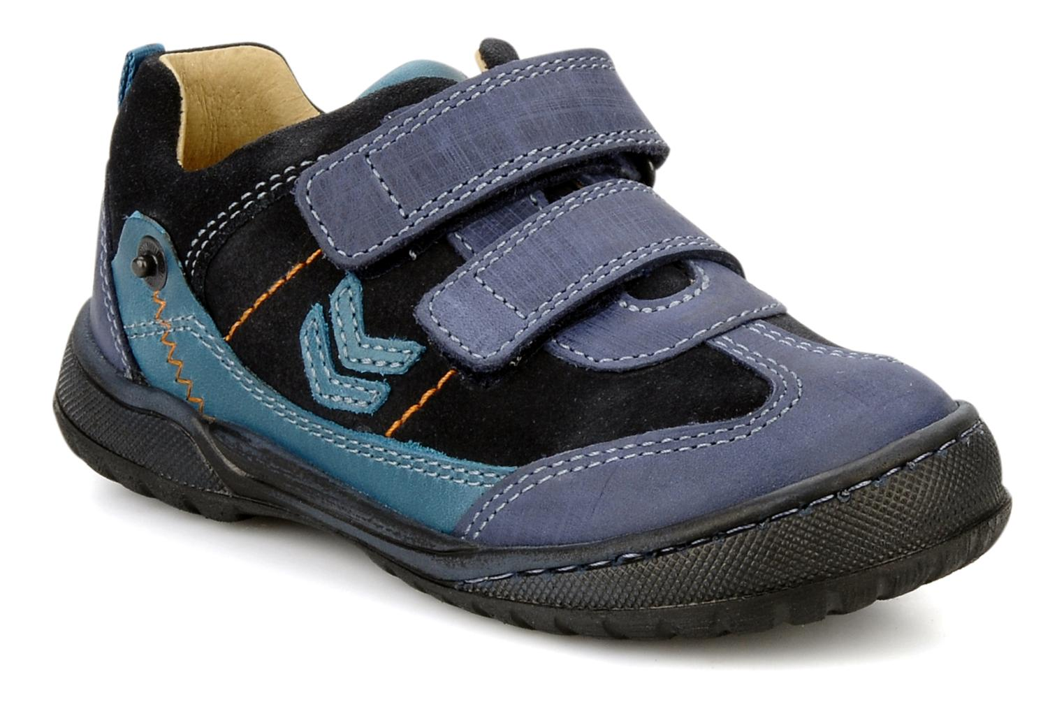 Velcro shoes Start Rite Trail Blue detailed view/ Pair view