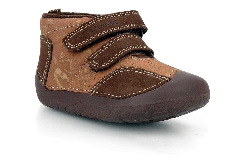 Chaussures à scratch Start Rite Fossil Marron vue détail/paire