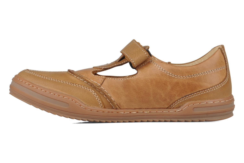 Chaussures à lacets Kickers Jimpy Marron vue face
