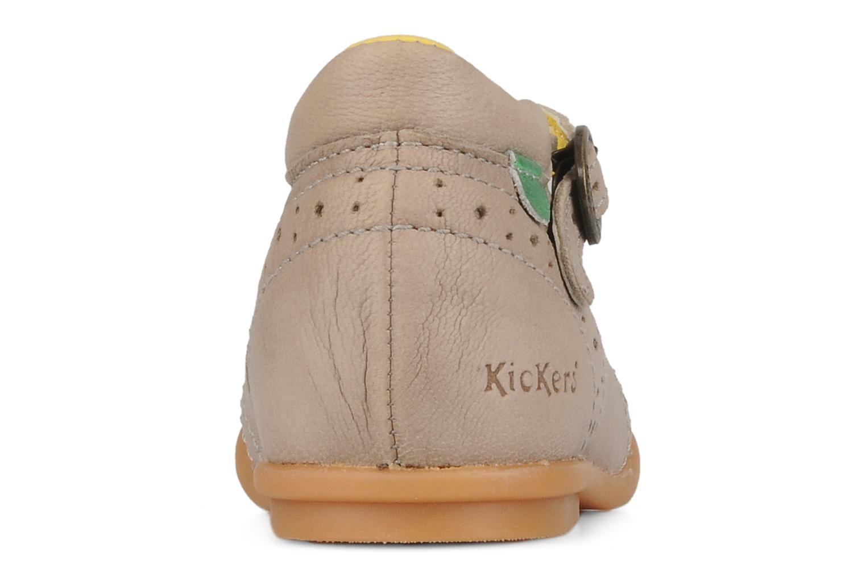 Bottines et boots Kickers Sara Gris vue droite