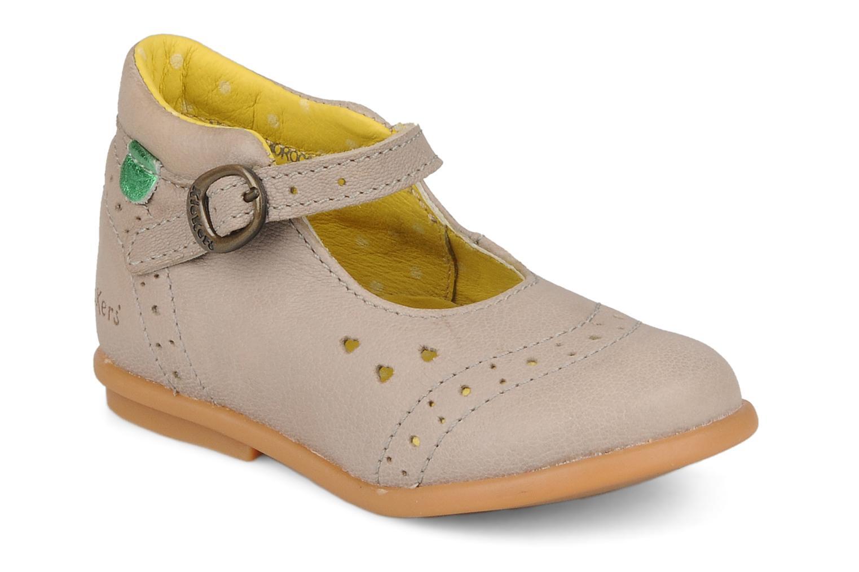 Bottines et boots Kickers Sara Gris vue détail/paire