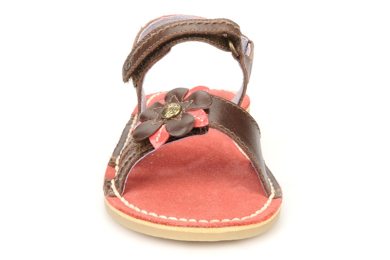 Sandales et nu-pieds Kickers Kostaki Marron vue portées chaussures