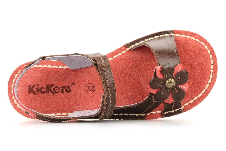 Sandales et nu-pieds Kickers Kostaki Marron vue gauche