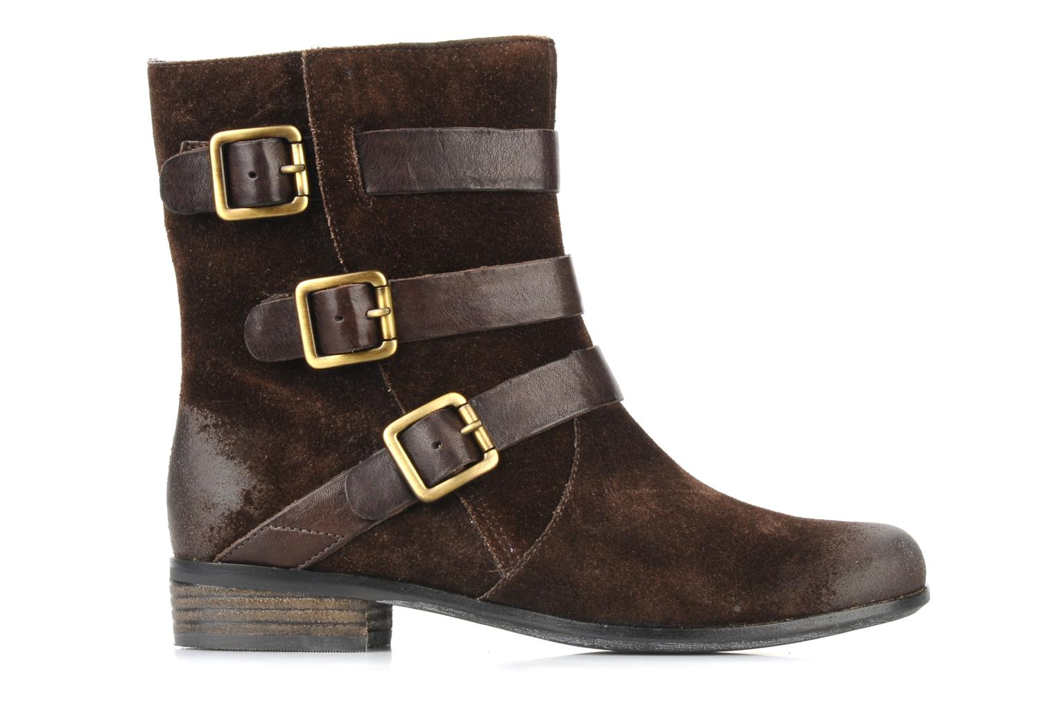 Ankle boots Clarks Meg kelly Brown back view