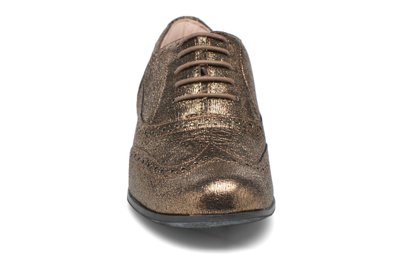 Schnürschuhe Clarks Hamble Oak gold/bronze schuhe getragen