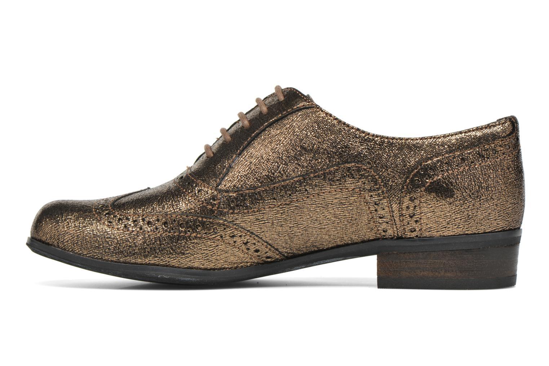 Schnürschuhe Clarks Hamble Oak gold/bronze ansicht von vorne