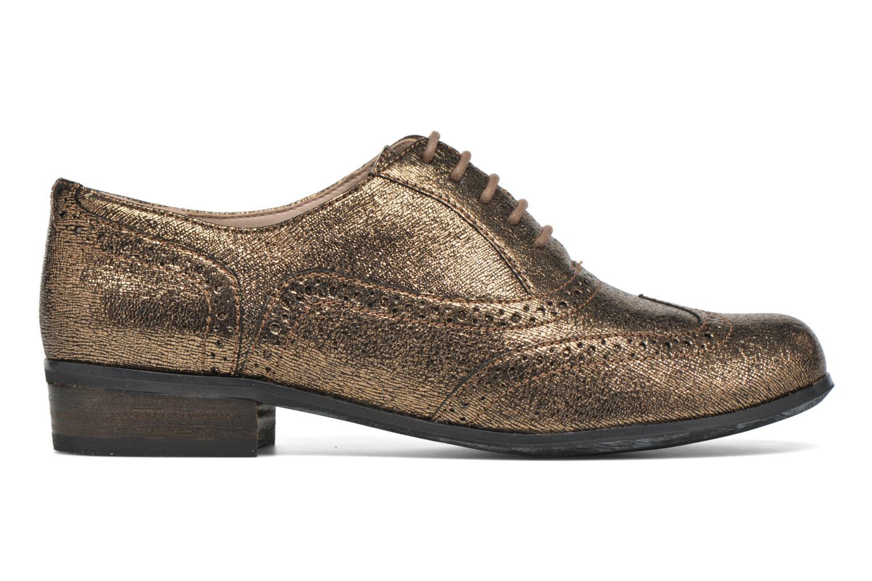 Schnürschuhe Clarks Hamble Oak gold/bronze ansicht von hinten
