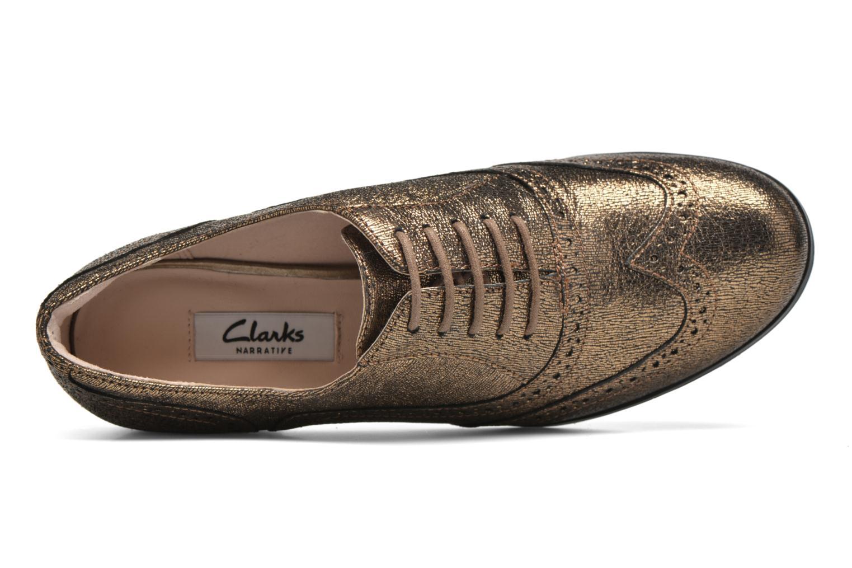 Schnürschuhe Clarks Hamble Oak gold/bronze ansicht von links